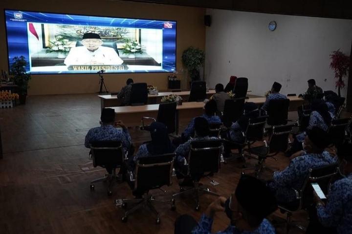 Virtual Meeting bersama Wapres RI Peringati Hari Otonomi Daerah XXV