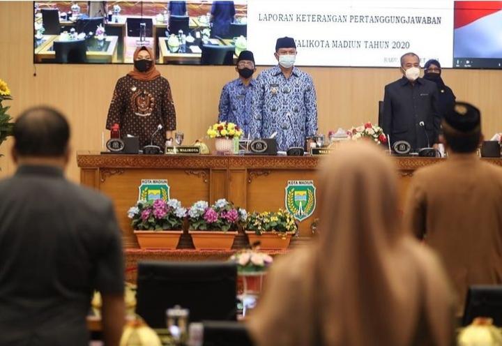 Paripurna, Penyampaian Nota Penjelasan LKPJ Walikota Madiun Tahun 2020